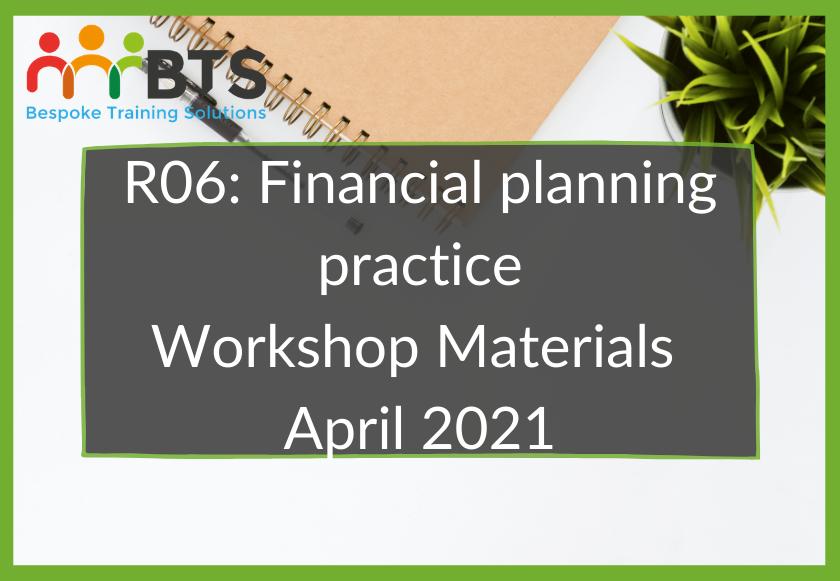 R06 Workshop