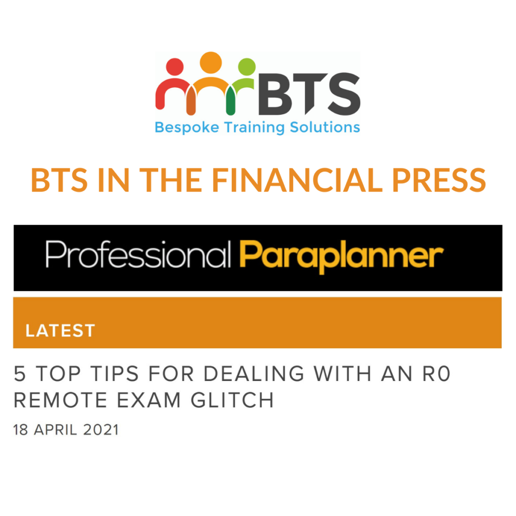 Professional Paraplanner article R0 exam glitch